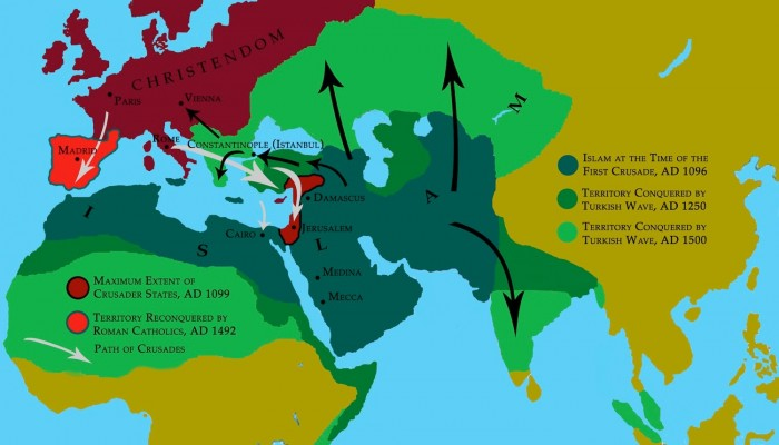 islam-territory crusade versus muslim conquest
