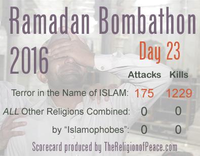 Ramadan bombathon scorecard, day 23