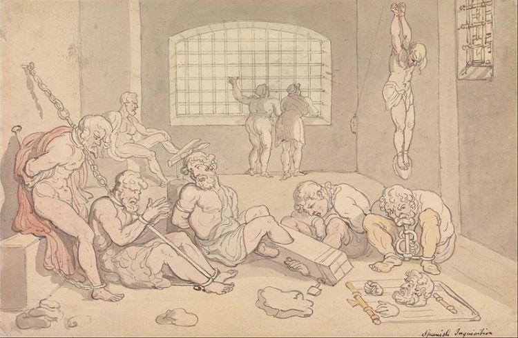 Thomas Rowlandson - Spanish Inquisition