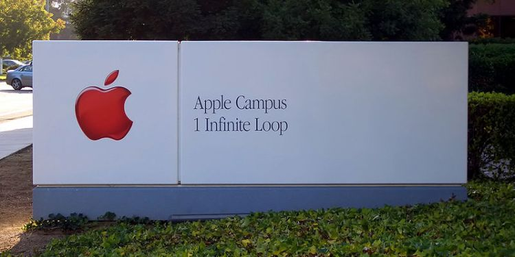 Apple Inc. headquarters sign