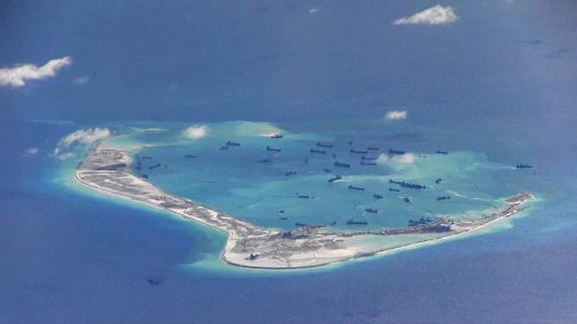Subi Reef, Spratly Islands, South China Sea, in May 2015
