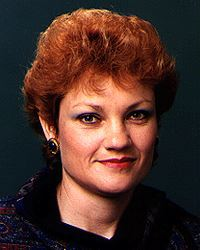 A parliamentary portrait of Pauline Hanson early in her political career