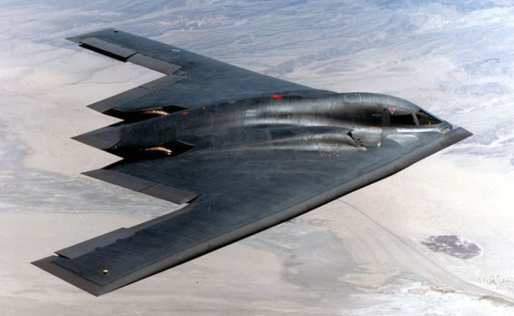 A U.S. Air Force B-2 Spirit bomber.