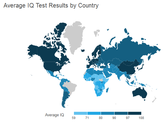 Average IQ by Country