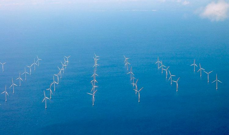 Lillgrund Wind Farm's wind turbines in the Sound near Copenhagen and Malmö