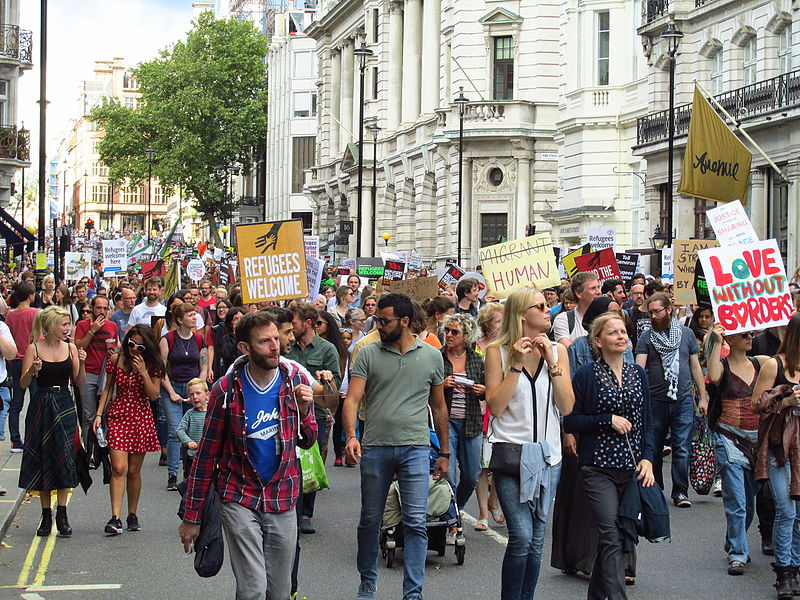 Refugees Welcome Demo London Saturday September 12 2015