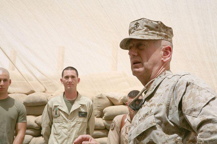 Lt. Gen. James Mattis, the commander of U.S. Marine Corps Forces Central Command, 2007