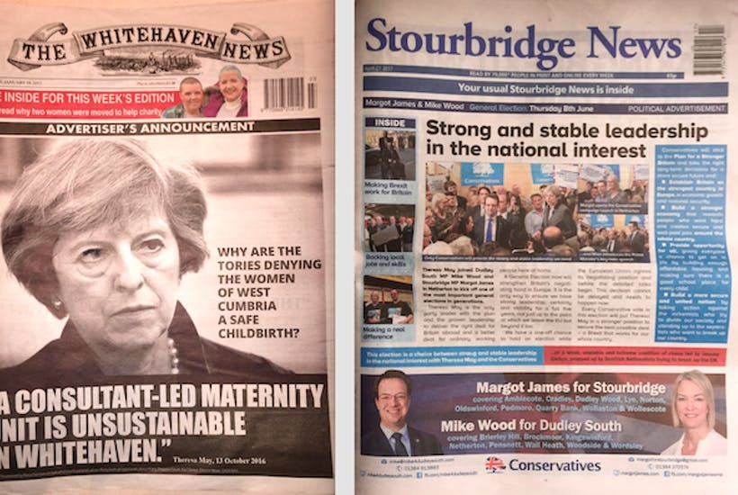 When Politicians Buy The Newspaper Front Pages They