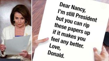 Image result for Pelosi tears up document